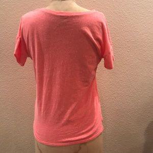 8f8041662 Old Navy Shirts & Tops - Old Navy Neon Coral Slub Knit Boyfriend Tee XL/